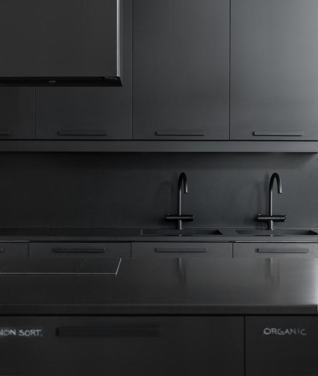 Ikea Creative Hub Malmö cocina negra
