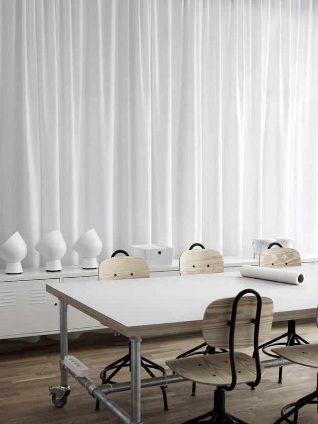 Ikea Creative Hub Malmö cortina blanca