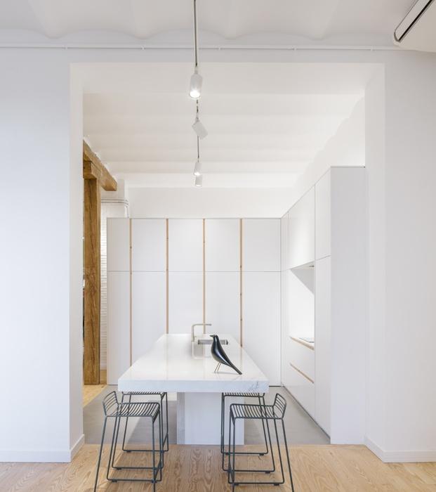 comedor blanco loft en madrid zooco estudio diariodesign