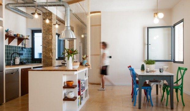 reforma de apartamento gyra architects en sevilla cocina