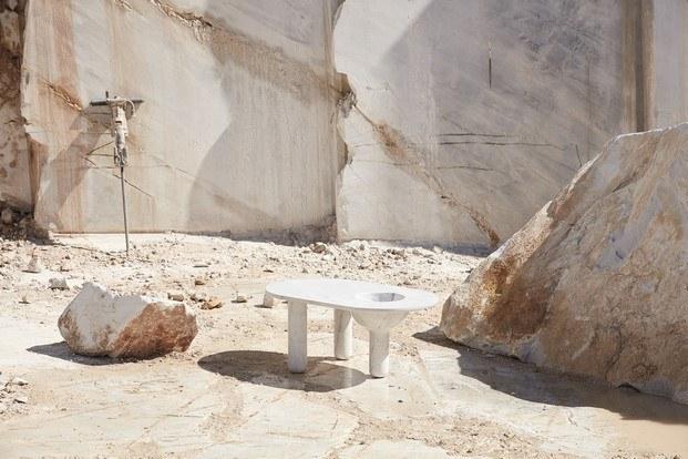 bacchus mesa colección de muebles de mármol new volumes diariodesign