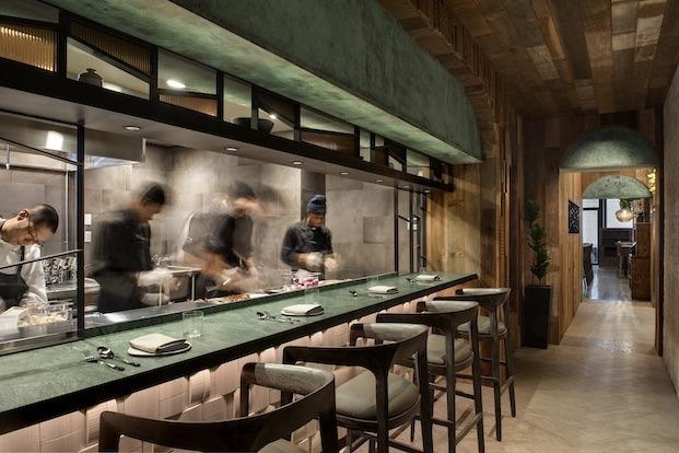Cocina abierta del restaurante wayan diariodesign