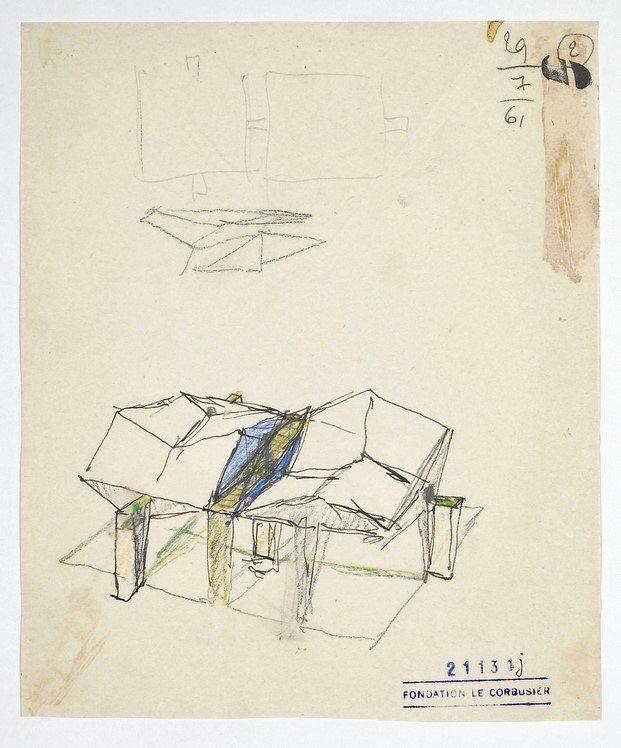 boceto pabellón de le corbusier diariodesign