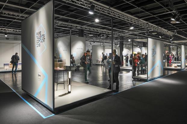 Diseño de stand Pure Talents 2019 exposición de jóvenes diseñadores diariodesign