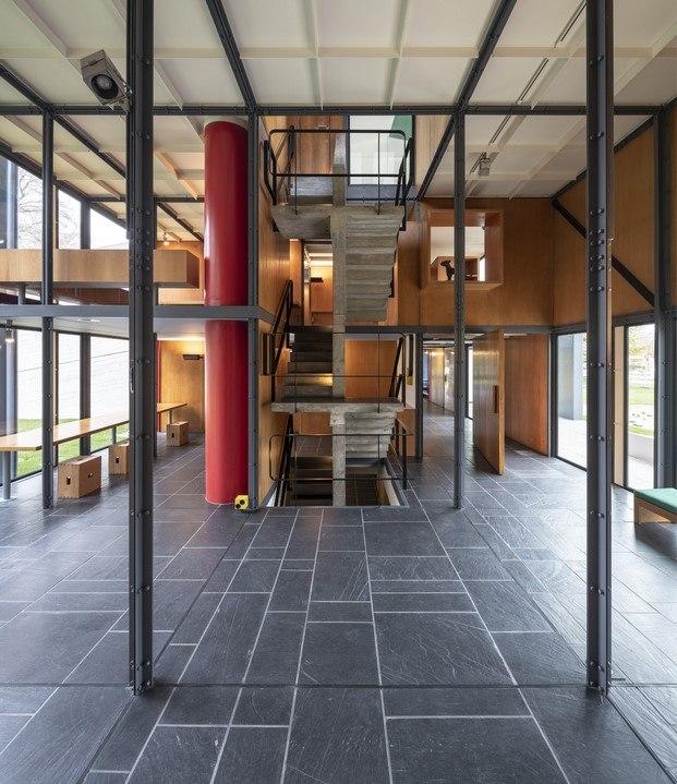 interior pabellón inspirado en el modulor diariodesign