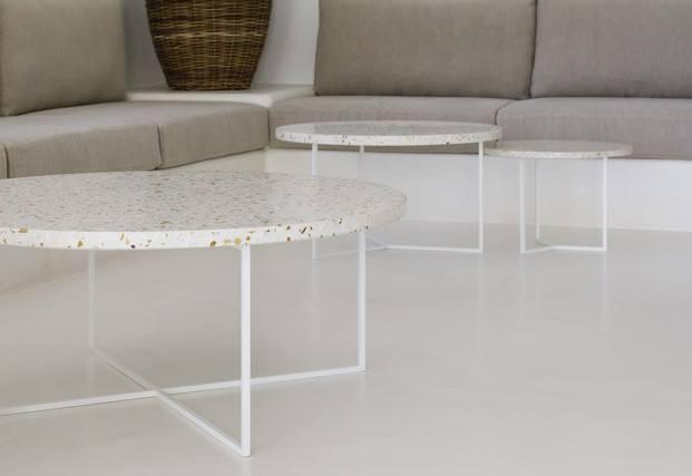 mesas con cubierta de mármol salón vivienda vaimberg salvadó diariodesign