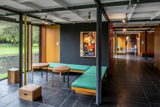 muebles de le corbusier instalados en pavillon zurich diariodesign