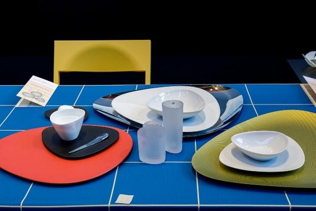 platos vasos y cubiertos roca gallery barcelona