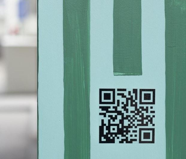 código qr azul verde polonia