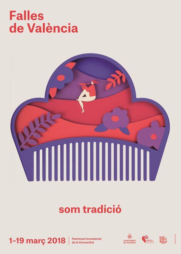 diseño gráfico valencia cartel fallas 2018 diariodesign