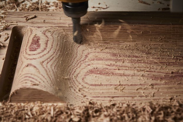 trabajo madera roja