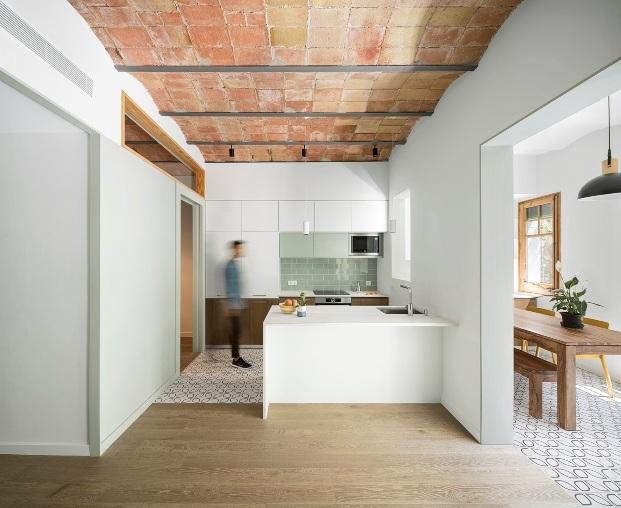 cocina blanca abierta