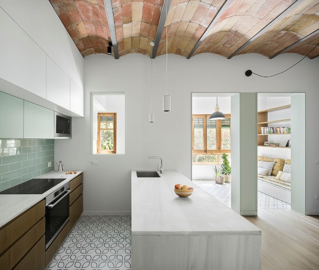 caldrap nook cocina abierta blanca