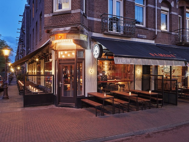 Terraza del local geométrico Ramona Amsterdam diariodesign