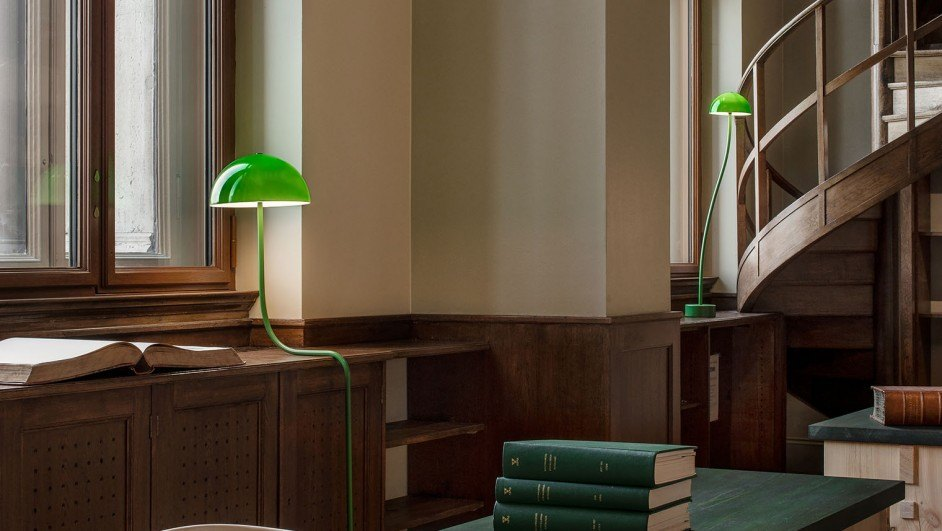 lámparas front verde biblioteca nationalmuseum estocolmo diariodesign