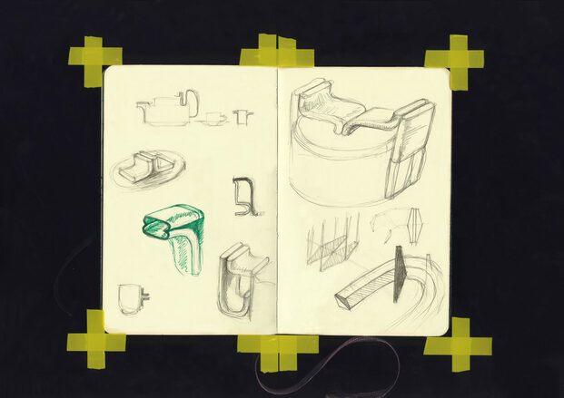 Dibujos originales tetera Bethan Laura Wood