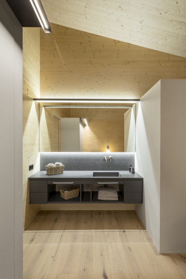 Casa en La Cerdanya. Baño de madera