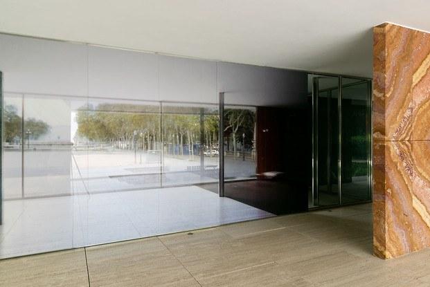 Fotografía Michael Wessely Pabellón Mies Van Der Rohe Barcelona interior