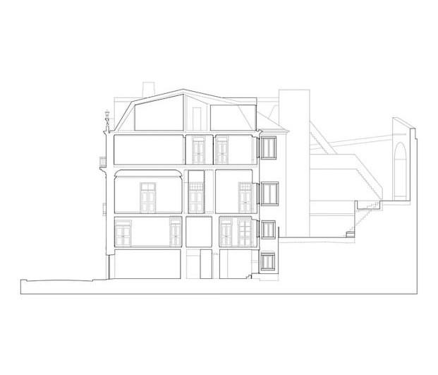 Sección del estudio de arquitectura