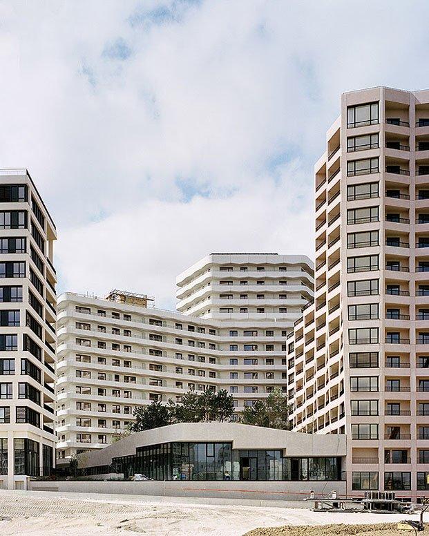conjunto de edificios en el 17 arrondissement de parís
