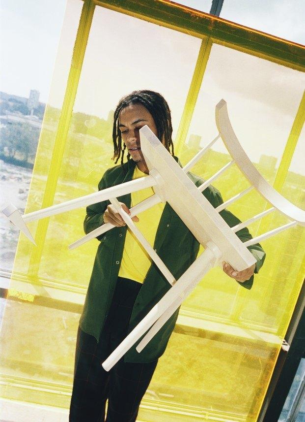 Silla de madera #MARKERAD IKEA® c/o Virgil Abloh™