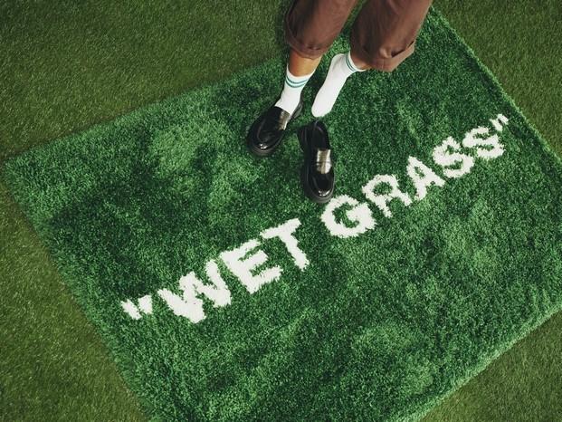 Alfombra Wet Grass #MARKERAD IKEA® c/o Virgil Abloh™
