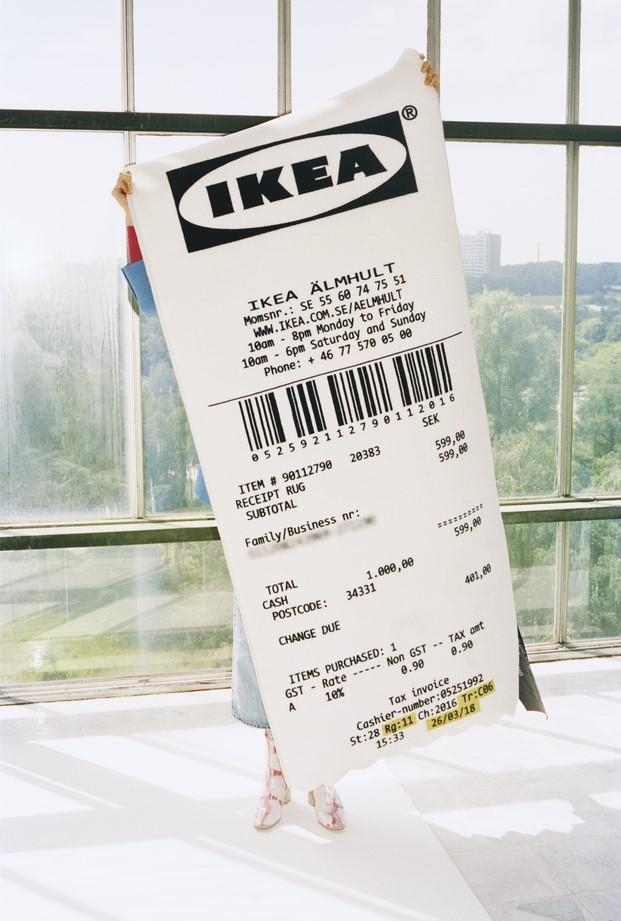 Alfombra tiquet recibo ikea #MARKERAD IKEA® c/o Virgil Abloh™