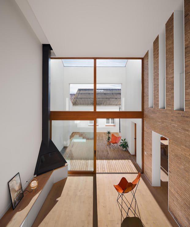Volumen interior-exterior vivienda en lleida diariodesign