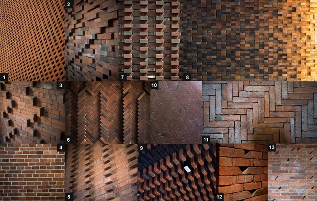 patrones batik casa de ladrillo en indonesia