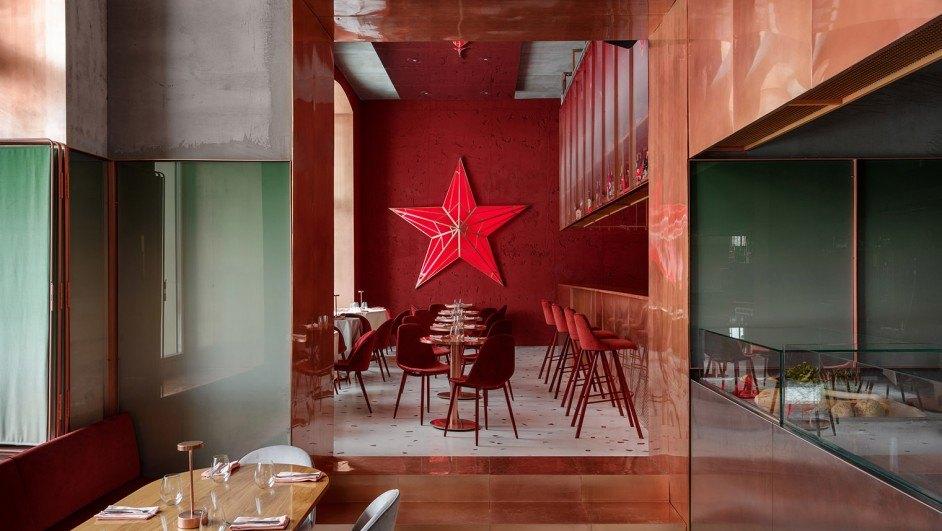 pink mama restaurante en moscú diariodesign