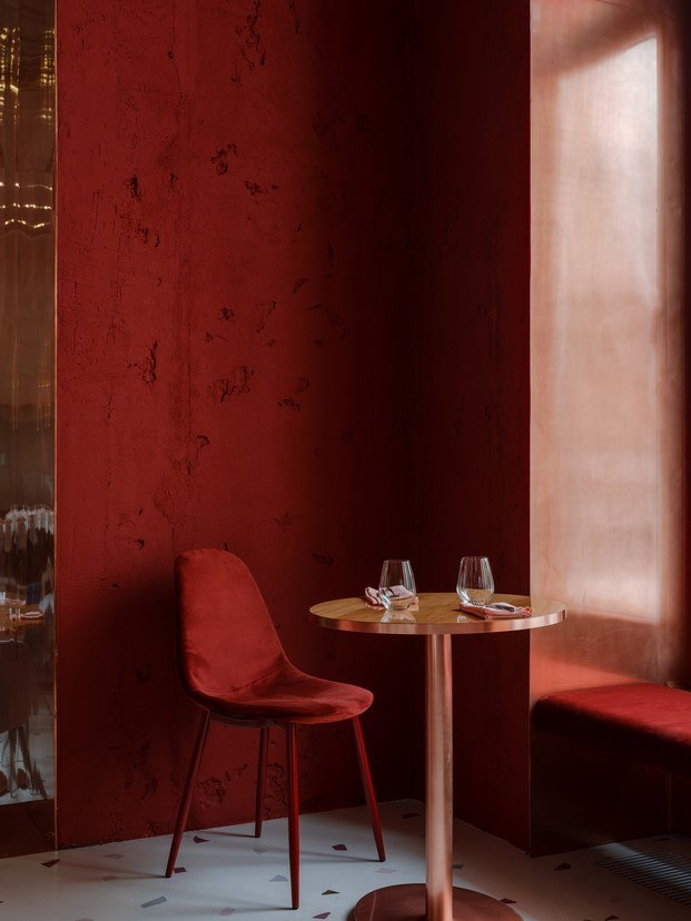 rincón tono rojo restaurante en moscú