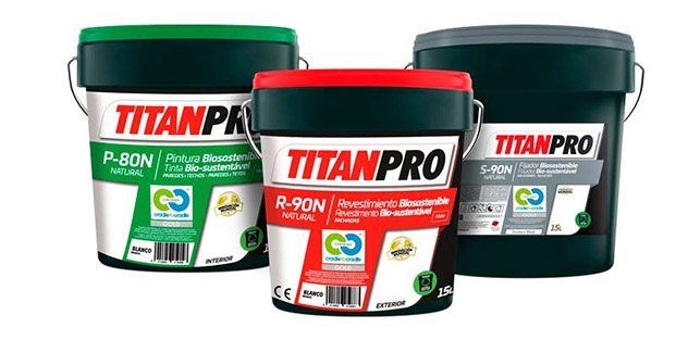 botes de pintura titan biosostenible