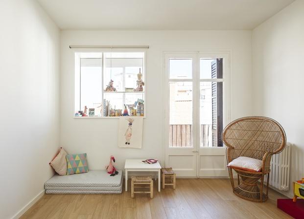Vivienda estilo nórdico y minimalista. Interiorstas Acabadomate. Habitación niños