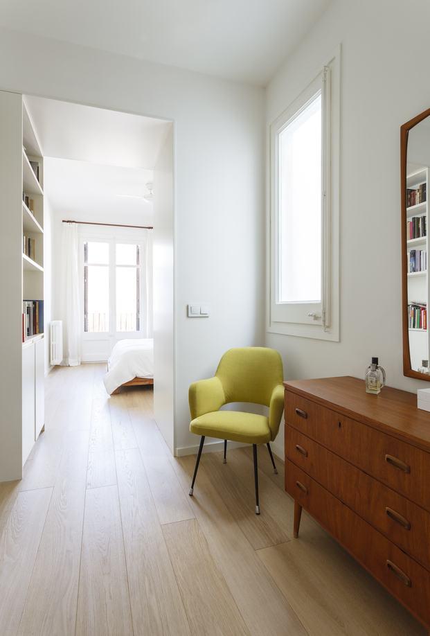 Vivienda estilo nórdico y minimalista. Interiorstas Acabadomate. Habitaciones