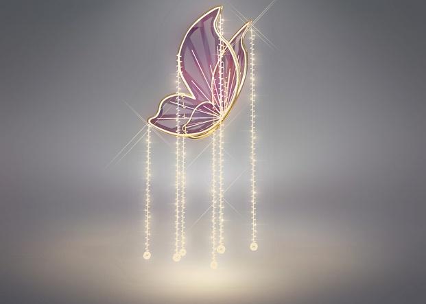Iluminación Navidad Paseo de Gracia Mariposas 2019