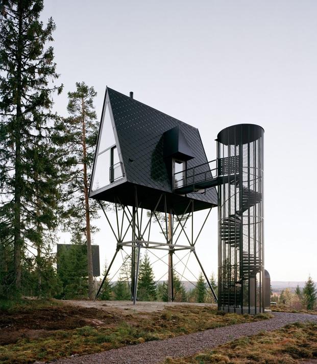 cabañas en el bosque noruego