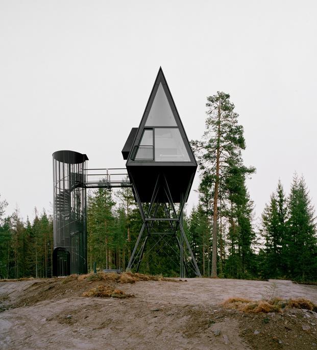 cabañas en el bosque Noruega PAN Tree top cabins