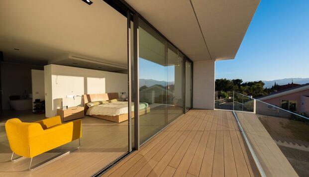 Casa Simpática. Vivienda modular. Suite con vistas