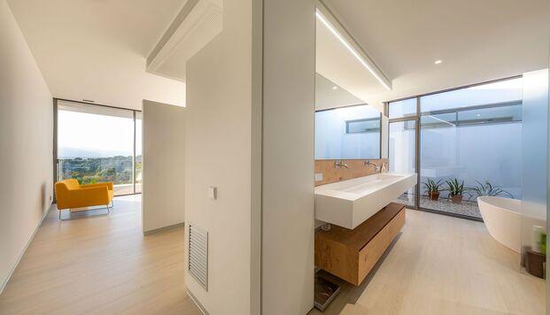 Casa Simpática. Vivienda modular. Baño suite