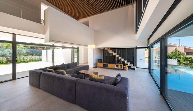 Casa Simpática. Vivienda modular. Salón