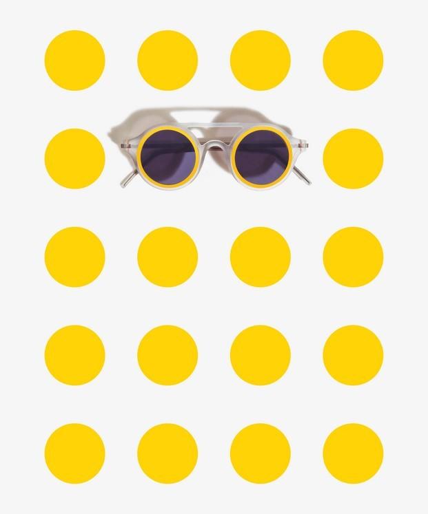 gafas de sol de diseño aro amarillas
