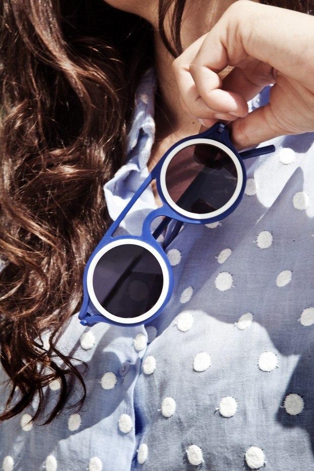 gafas de sol azules mermelada plasticdelux