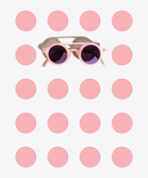 gafas de sol de diseño aro rosas
