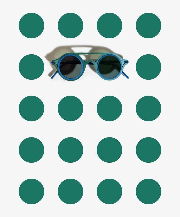 gafas aro verdes