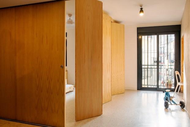 separación habitaciones vivienda flexible gyra architects