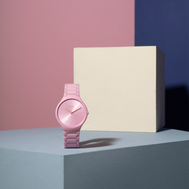 reloj rado color le corbusier rosa