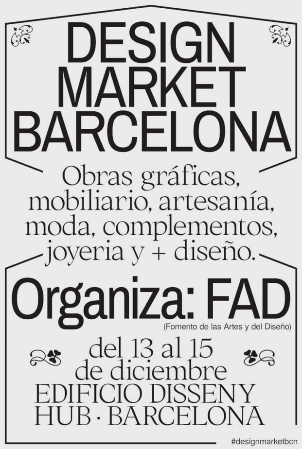 Cartel diseñadores Design Market Barcelona 2019