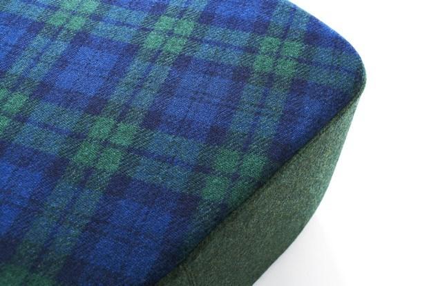 detalle harris tweed en pouf ondarreta