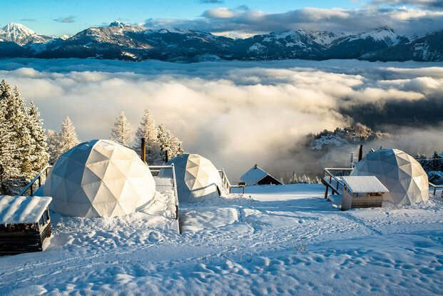 Whitepod eco luxury hotel en Suiza