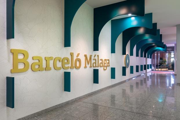 arcos turquesa entrada hotel barceló málaga